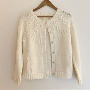J Crew Alpaca Wool Cardigan Sweater